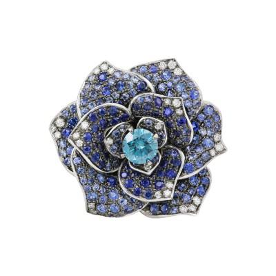 Bespoke Jewellery Singapore Exotic Gems & Jewellery Pte Ltd Blue Diamond Sapphire Ring
