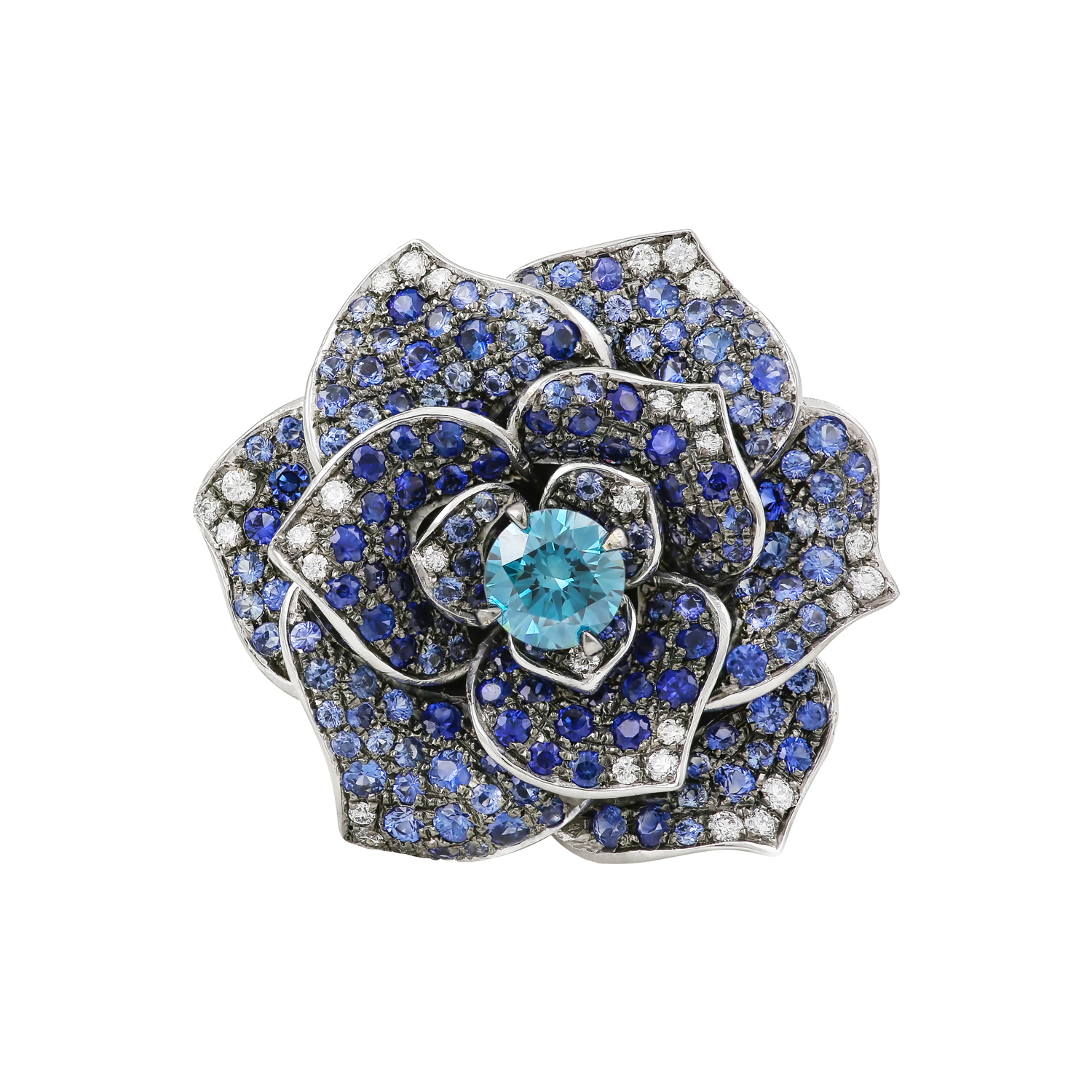 Bespoke Jewellery Singapore Exotic Gems & Jewellery Pte Ltd Blue Diamond Sapphire Ring