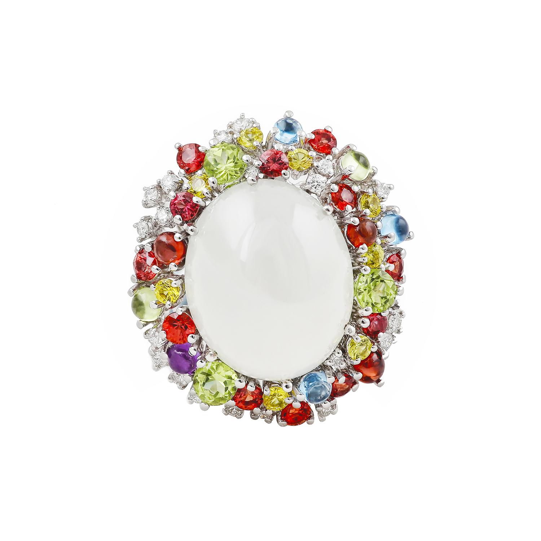 Bespoke Jewellery Singapore Exotic Gems & Jewellery Pte Ltd Icy Jade Brooch
