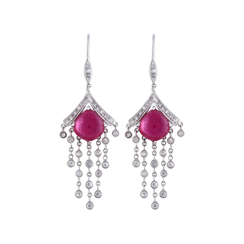 Bespoke Jewellery Singapore Exotic Gems & Jewellery Pte Ltd Ruby Diamond Earrings