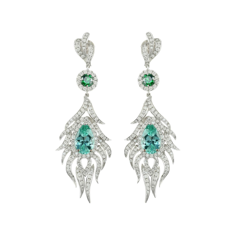 Bespoke Jewellery Singapore Exotic Gems & Jewellery Pte Ltd Paraiba Diamond Earrings