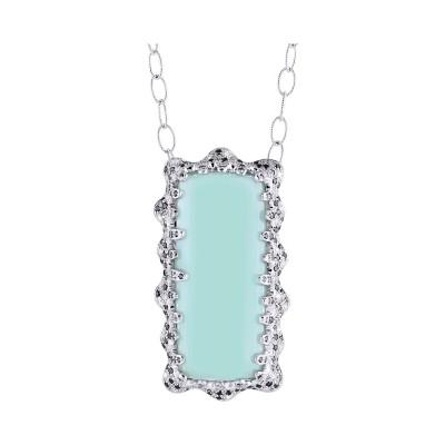 Bespoke Jewellery Singapore Exotic Gems & Jewellery Pte Ltd Aquamarine Diamond Pendant
