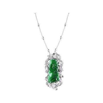 Bespoke Jewellery Singapore Exotic Gems & Jewellery Pte Ltd Jade Diamond Pendant