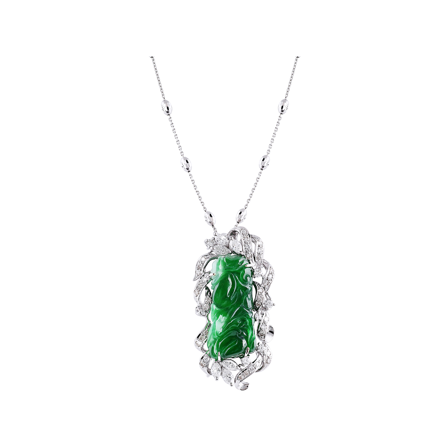 Bespoke Jewellery Singapore Exotic Gems & Jewellery Pte Ltd Jade Diamond Pendant