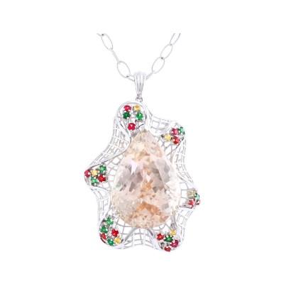 Bespoke Jewellery Singapore Exotic Gems & Jewellery Pte Ltd Kunzite Fancy Sapphire Pendant