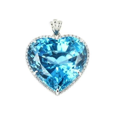 Bespoke Jewellery Singapore Exotic Gems & Jewellery Pte Ltd London Blue Topaz Diamond Pendant