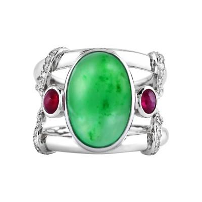 Bespoke Jewellery Singapore Exotic Gems & Jewellery Pte Ltd Jade Ruby Diamond Ring