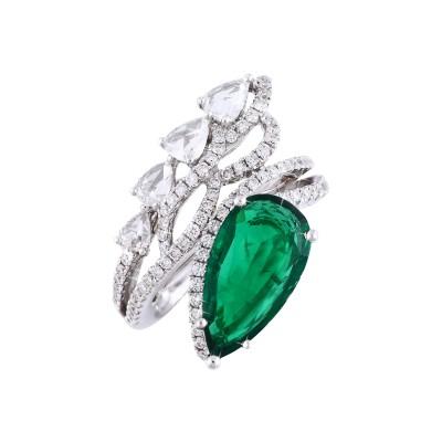 Bespoke Jewellery Singapore Exotic Gems & Jewellery Pte Ltd Emerald Diamond Ring