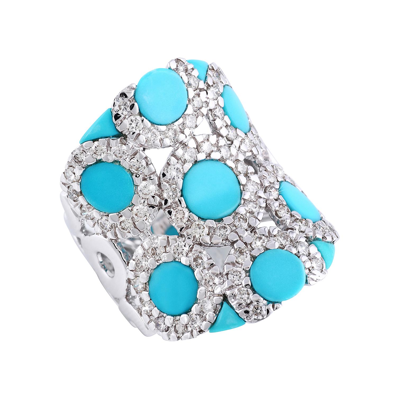 Bespoke Jewellery Singapore Exotic Gems & Jewellery Pte Ltd Turquoise Diamond Ring