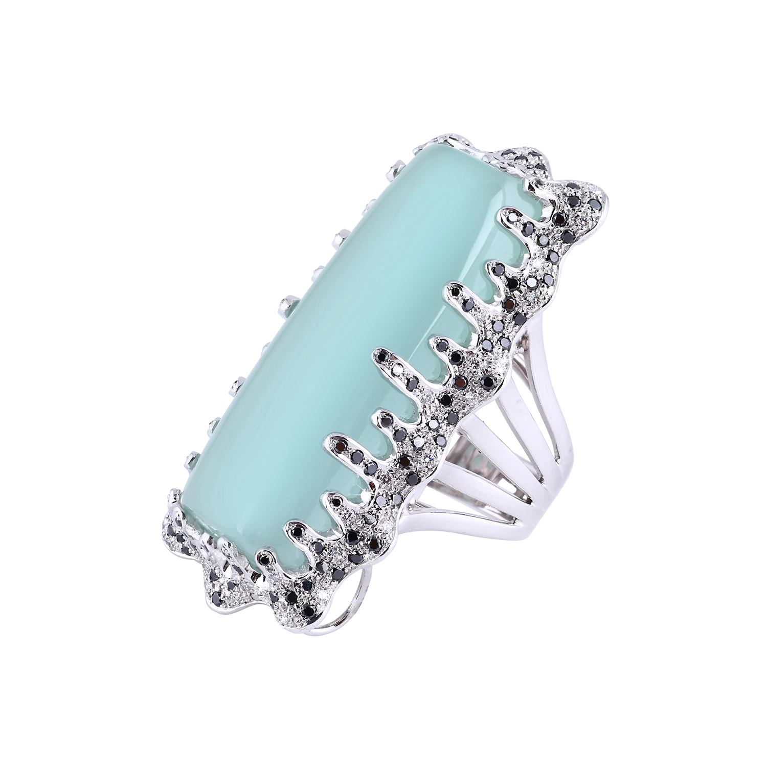 Bespoke Jewellery Singapore Exotic Gems & Jewellery Pte Ltd Aquamarine Diamond Ring