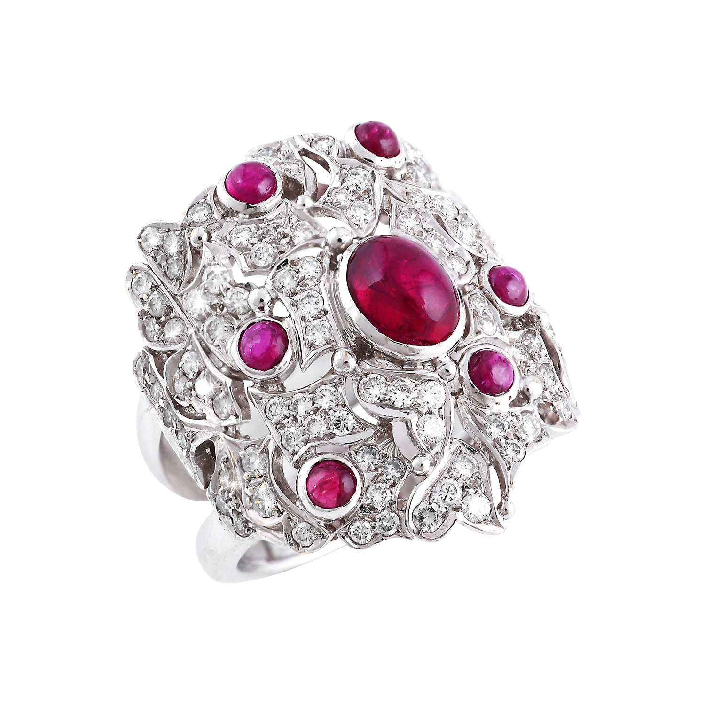 Bespoke Jewellery Singapore Exotic Gems & Jewellery Pte Ltd Ruby Diamond Ring