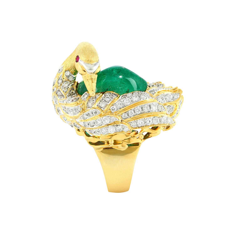 Bespoke Jewellery Exotic Gems & Jewellery Pte Ltd Emerald Diamond Ring