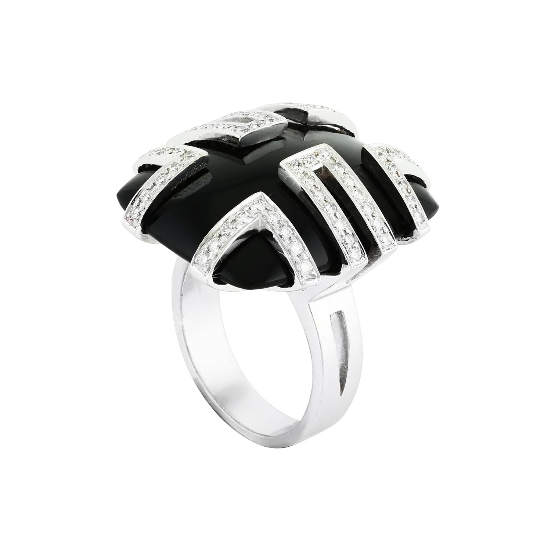 Bespoke Jewellery Exotic Gems Onyx Diamond Ring