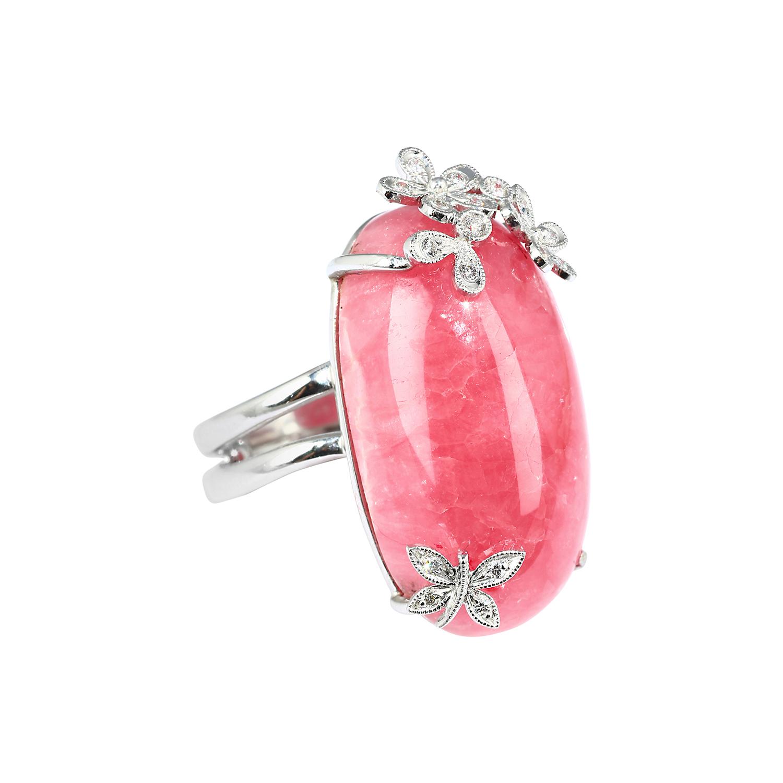 Exotic Gems & Jewellery Pte Ltd Rhodochrosite Diamond Ring