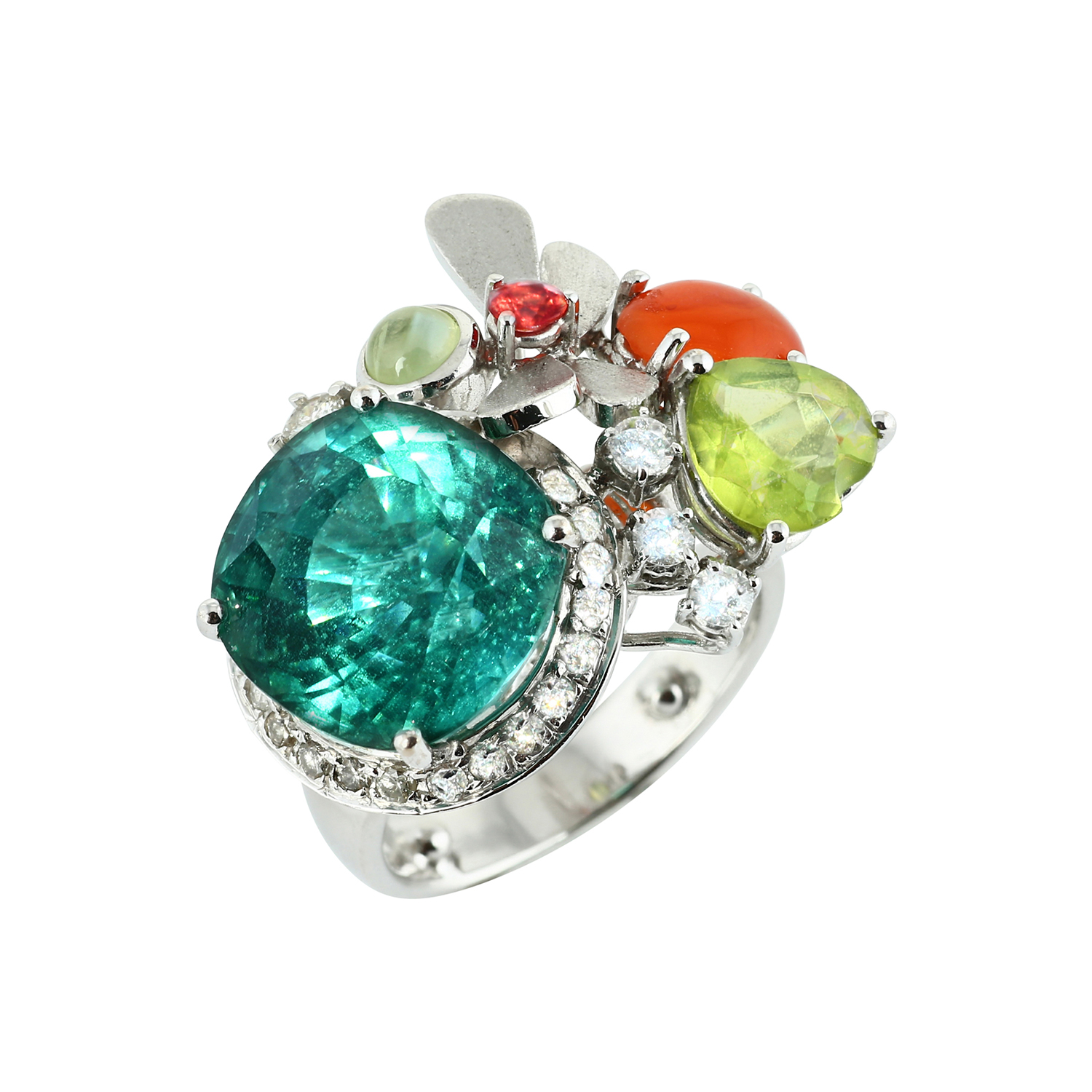Bespoke Jewellery Singapore Exotic Gems & Jewellery Pte Ltd Green Tourmaline Ring