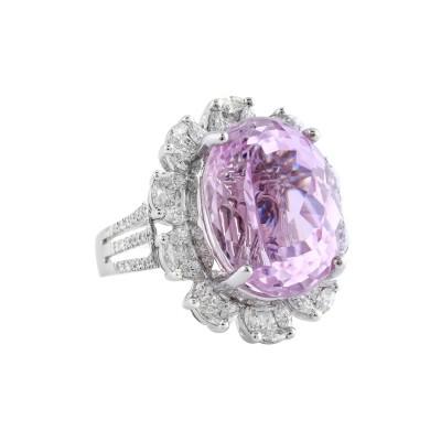 Bespoke Jewellery Singapore Exotic Gems & Jewellery Pte Ltd Kunzite Diamond Ring Pendant