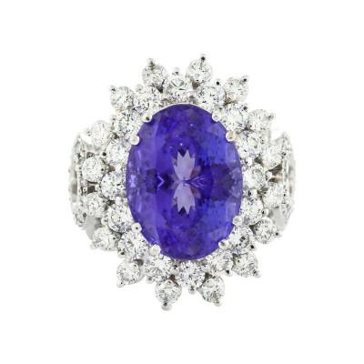 Bespoke Jewellery Singapore Exotic Gems & Jewellery Pte Ltd Tanzanite Diamond Ring